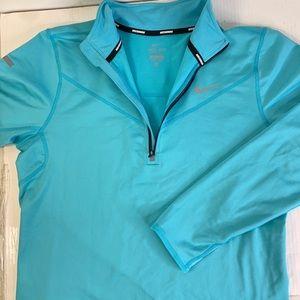 Nike running Dri-Fit women's Blue halfzip jacket
